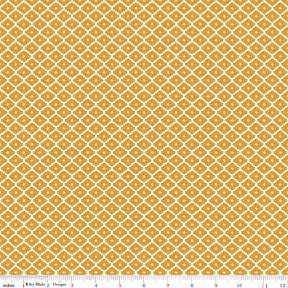Riley Blake Golden Aster Geometric - Mustard
