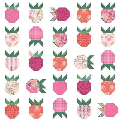 Citrus & Mint Designs Strawberry Field Quilt Pattern