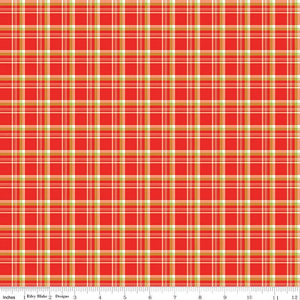 Riley Blake A Merry Little Christmas Plaid - Red