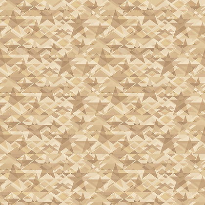 Henry Glass Scrap Happy Star Mosaic - Taupe