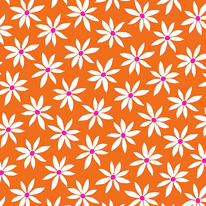Kanvas Studio Fruit Punch Daisy Dot - Orange