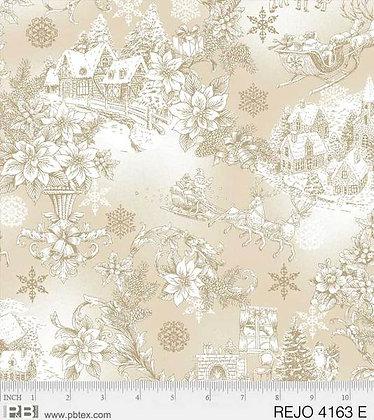P&B Textiles Rejoice Winter Scene - Ivory