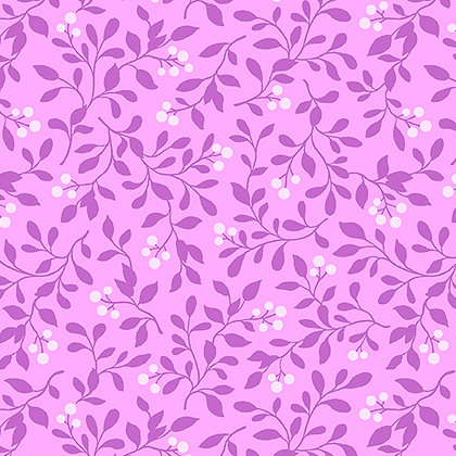 Benartex  Rose Whispers Berry Blush - Lilac