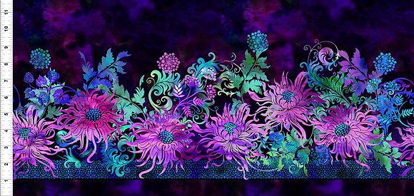 In The Beginning Floragraphix V Border - Purple
