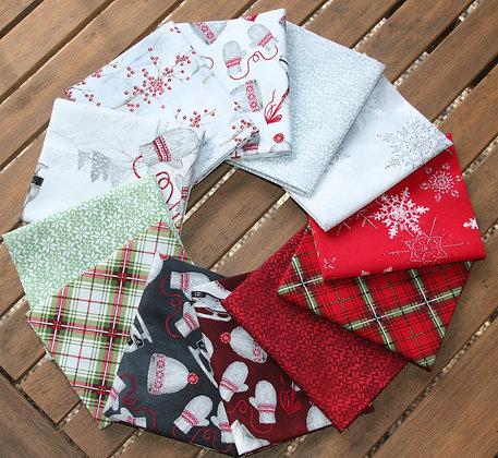 P&B Textiles Winter Wonderland 12 Piece Fat Quarter Bundle