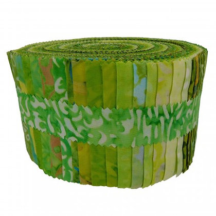 Maywood Java Batiks 2.5 inch Strips - Village Green