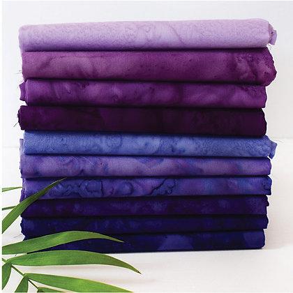 Anthology Lava 10 piece Batik Fat Quarter Bundle - Grapevine