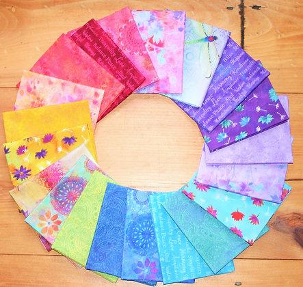 Clothworks Good Vibes Fat Quarter Bundle