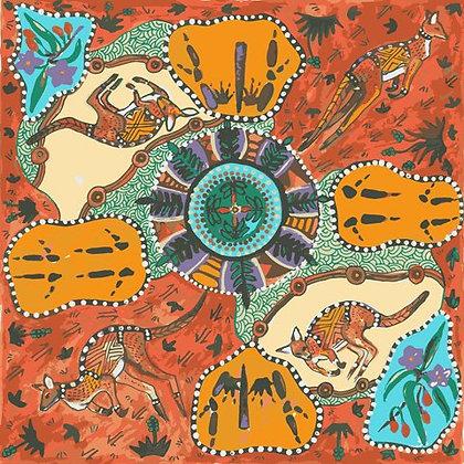 M&S Textiles Mirram Mirram Aka - Red
