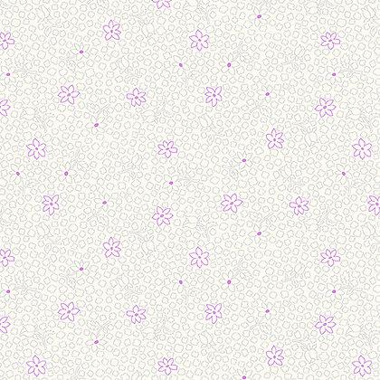 Benartex  Rose Whispers Rose Bud - Lavender