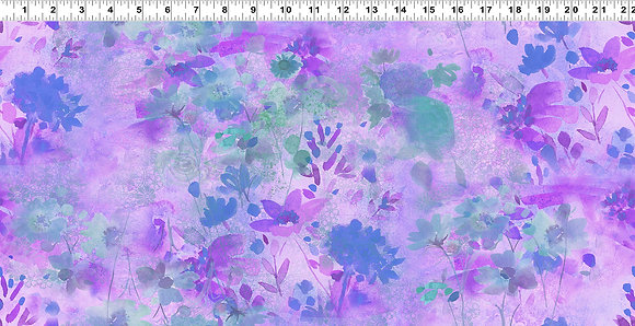 Clothworks Good Vibes Digital Floral - Light Purple