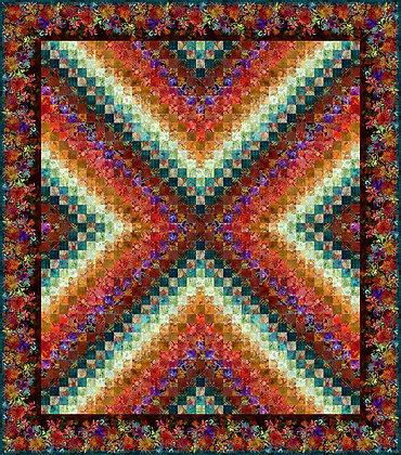In The Beginning Floragraphix X Trip Around the World Quilt Kit - Multi