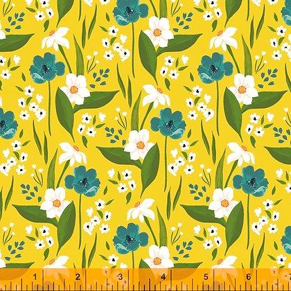 Windham Cora Happy Floral - Yellow