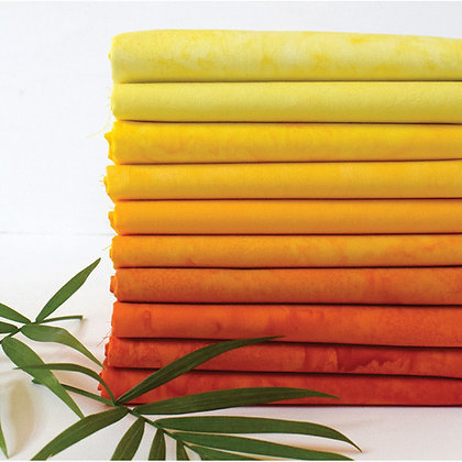 Anthology Lava 10 piece Batik Fat Quarter Bundle - Sunshine