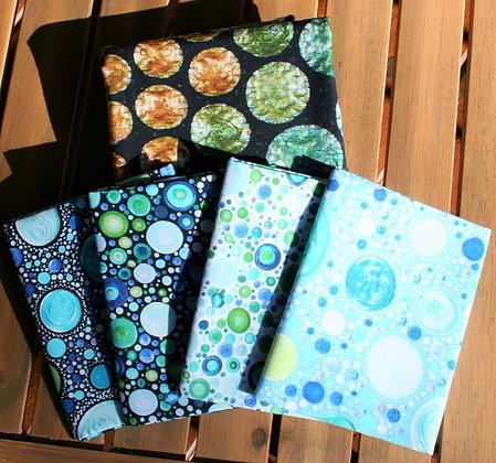 P&B Textiles Mindful Mandalas Fat Quarter Bundle with Panel - Rays Blue