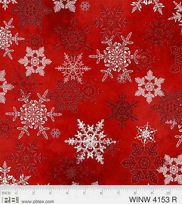 P&B Winter Wonderland Snowflakes - Red