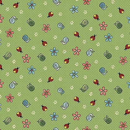 Henry Glass Backyard Happenings Snails - Green