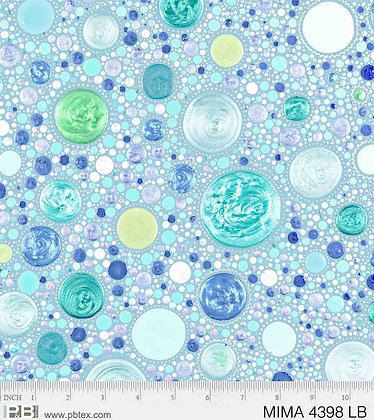 P&B Textiles Mindful Mandalas Large Dots - Light Blue