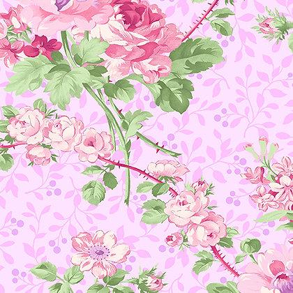 Benartex  Rose Whispers Rose Garden - Pink