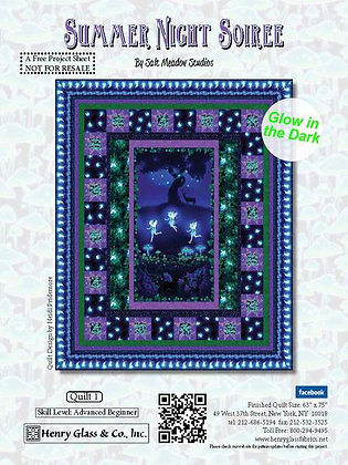 Summer Night Soiree Free Panel Quilt Pattern