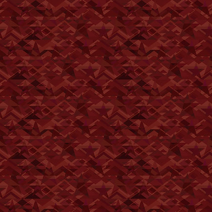 Henry Glass Scrap Happy Star Mosaic - Red