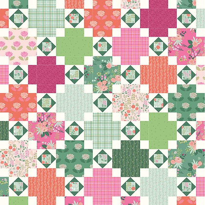 Riley Blake New Dawn - Citrus and Mint Designs Rose Terrace Quilt Pattern