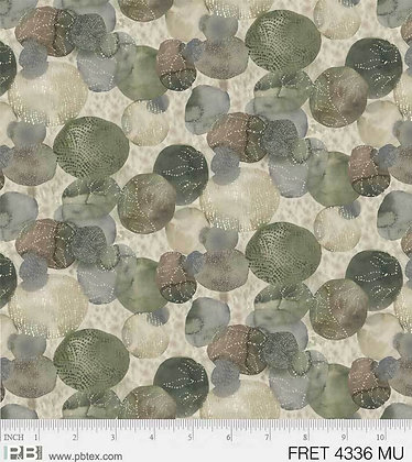 P&B Textiles Forest Retreat Textured Stone - Green