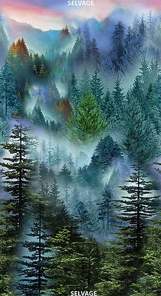 Timeless Treasures Mountain Vista Forest Panel -24 inches