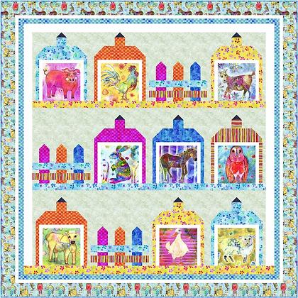 P&B Textiles Living Farm Free Quilt Pattern
