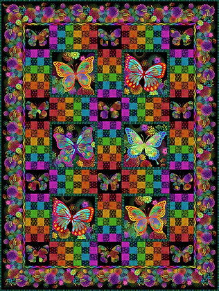 In The Beginning Unusual Garden II Butterfly Quilt Kit