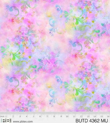 P&B Textiles Butterfly Dreams Watercolors -Multi