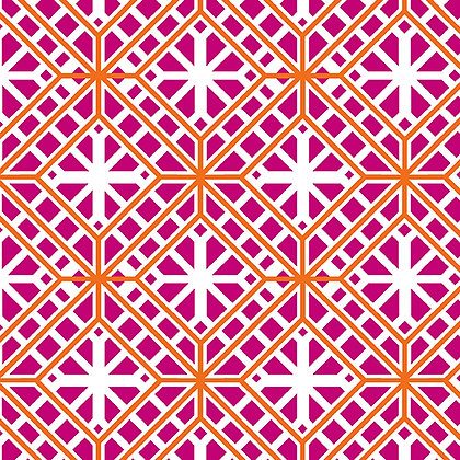 Kanvas Studio Fruit Punch Geo Trellis - Pink/Orange
