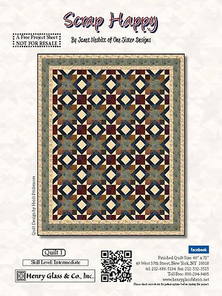 Henry Glass Scrap Happy Free Quilt Pattern