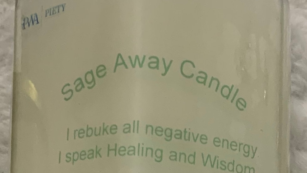 Sage Away Cleansing Candle