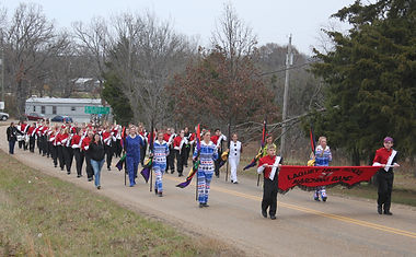 Laquey Band in Christmas Parade