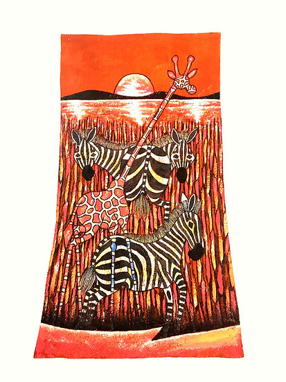 Mingling Giraffe