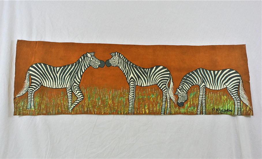Zebras Nose to Nose