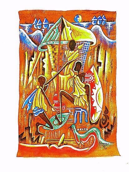African artwork of Bugandan King