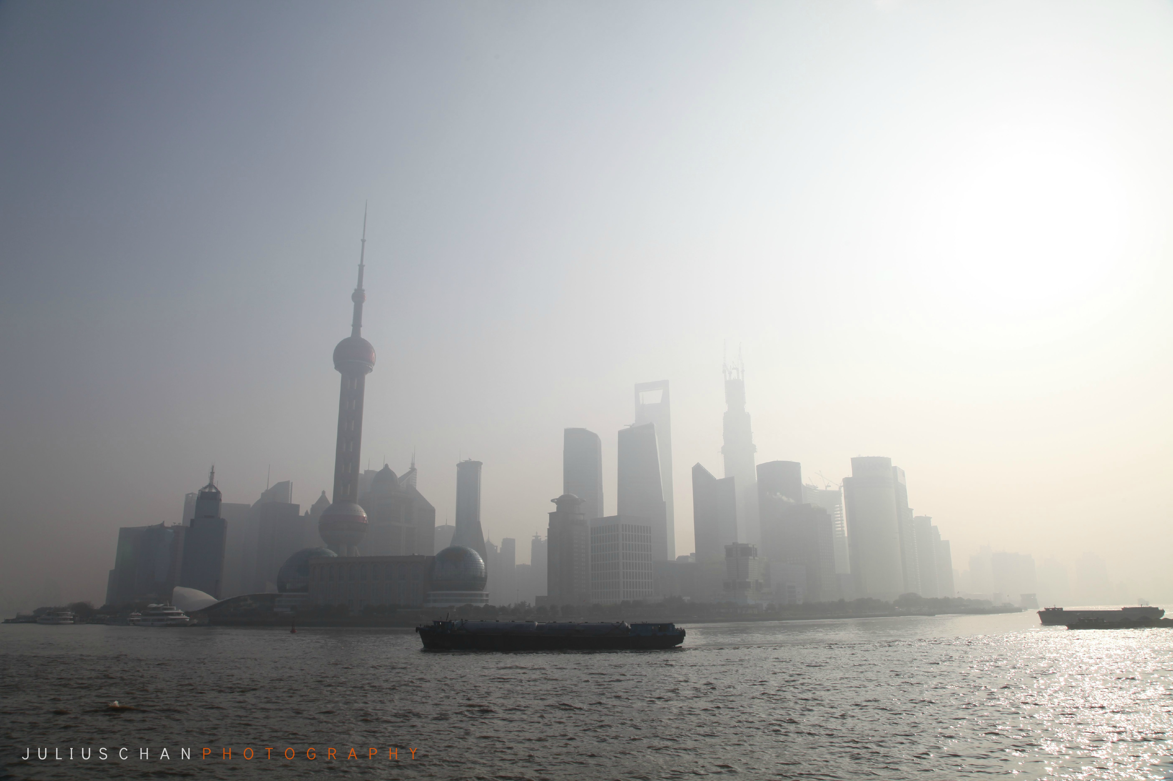 Bund, Shanghai pollution