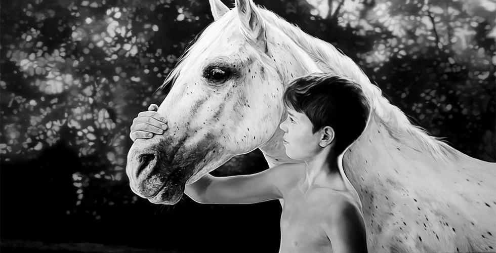 Joanna Jesse - Junge mit Pferd, 130x180cm,Öl auf Leinwand, 2018.jpg