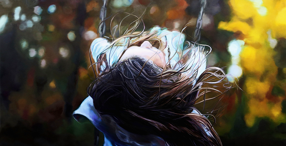 Joanna Jesse - Am Schaukeln, Öl auf Leinwand, 130x180cm, 2021.png