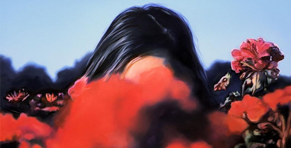 Joanna Jesse - In den Blumen, 40x60cm, Öl auf Leinwand, 2019.jpg