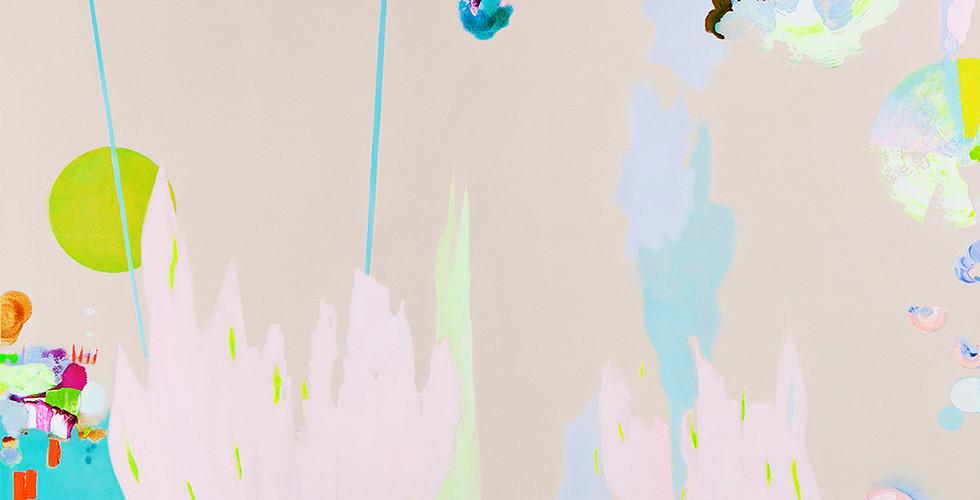 """""""Floating"""", Gouache, Öl und Acryl auf Leinwand, 190 x 190 cm, 2020.jpg"""