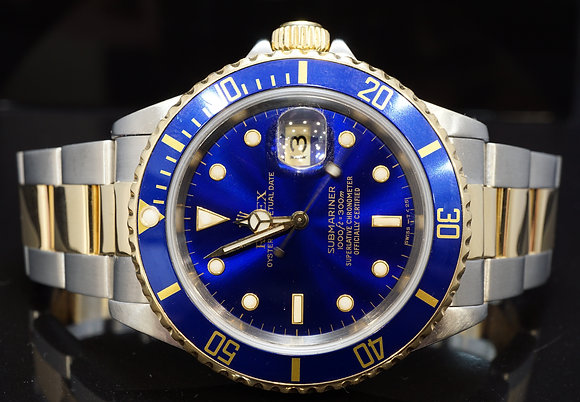 ROLEX 1990 Submariner, Steel & Gold, 16613, MINT, Boxed