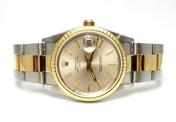 ROLEX 1991 Date 34, 15223, UNWORN, Oyster Bracelet, Box & Papers