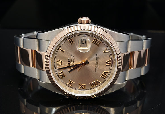 ROLEX 2016 Datejust 36, Steel & Rose Gold, 116231, Box & Papers