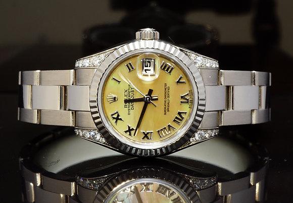 ROLEX 2009 26mm Datejust, 18ct White Gold, Diamond Set Case, 179239, MINT, Boxed