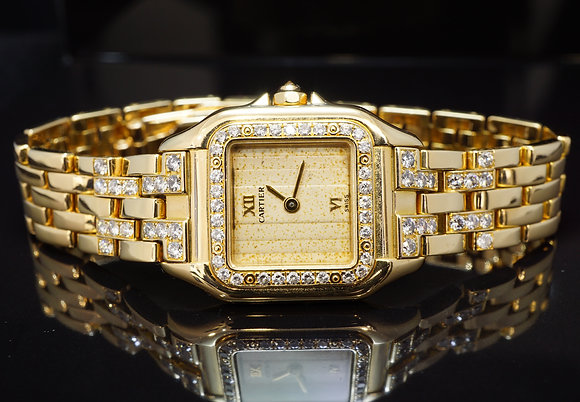 CARTIER 1995 Panthere Ladies, 18ct Yellow Gold, WF3159HQ, Box & Papers