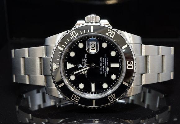 ROLEX 2011+ Submariner, Ceramic Bezel, 116610LN, Boxed