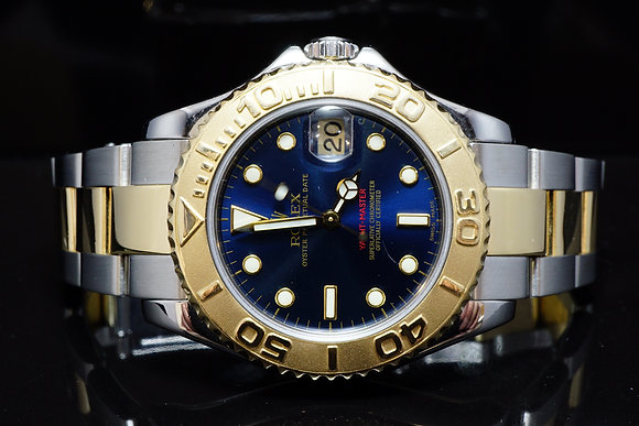 ROLEX 2001 Mid Size Yacht-Master, Steel & Gold, 168623, MINT, Boxed